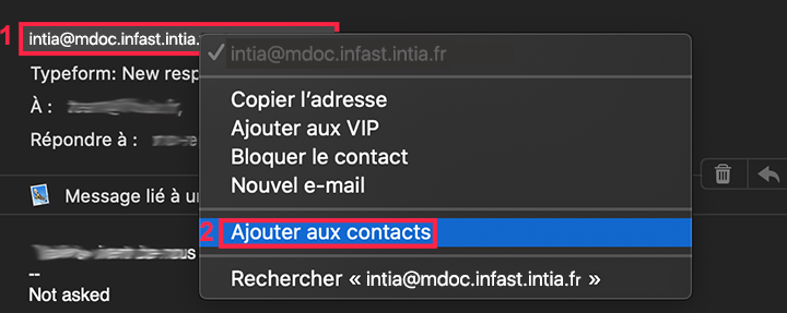 ajouter un contact apple mail (desktop)